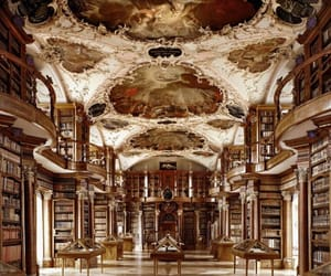 books, library, and switzerland image