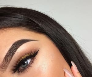 eyebrows, eyes, and goals image