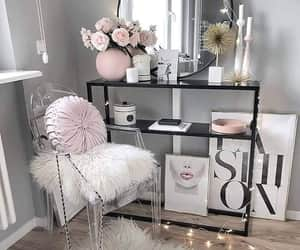 chair, room decorations, and chic image