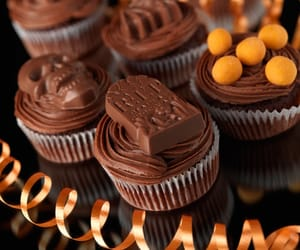 cupcake, chocolate, and delicious image