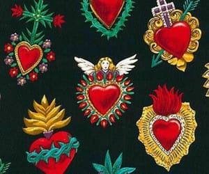background, corazones, and mexico image