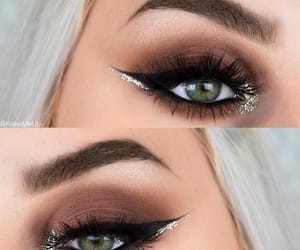 beauty, eyeliner, and eyebrows image