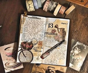 book, journal, and art image