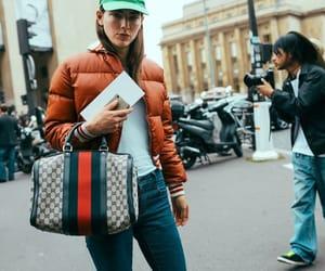fashion, puffer jacket, and street style image
