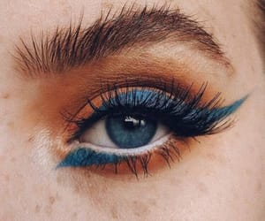 makeup, blue, and eyes image