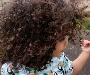baby, curly, and hair image