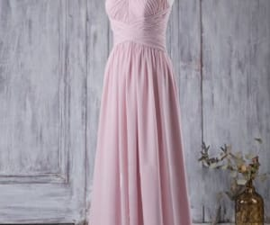 cheap wedding dresses, strapless wedding dresses, and pink bridesmaid dresses image