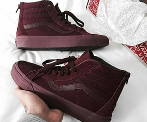 vans, burgundy, and shoes image