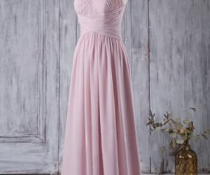 bridesmaid dresses, pink bridesmaid dresses, and strapless wedding dresses image