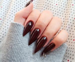 claws, dark nails, and long nails image
