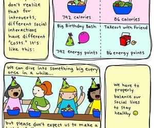 balance, calories, and introvert doodles image