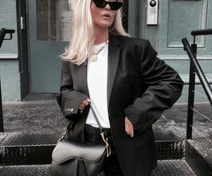 fashion, blonde, and chic image