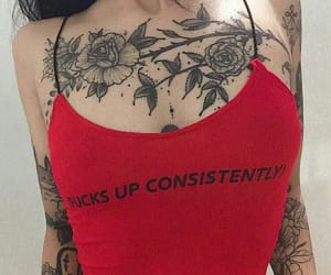 tattoo, red, and aesthetic image