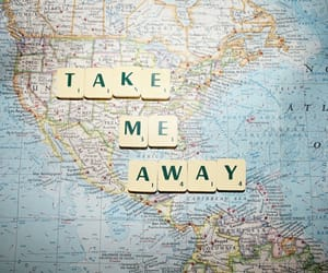 travel, map, and away image