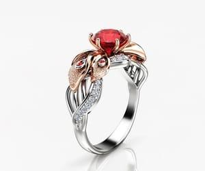 diamond ring, diamond wedding ring, and floral ring image
