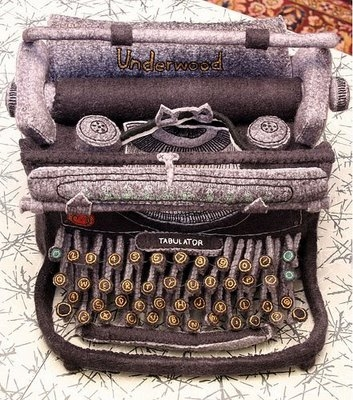 felt, typewriter, and handmade image