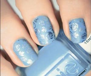blue, nail, and blue nails image