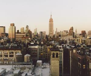 autumn, newyork, and sunset city image
