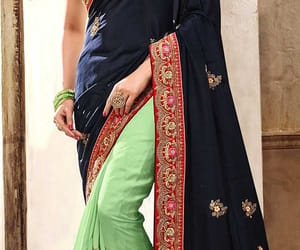 embroidered, sarees, and printedsaree image