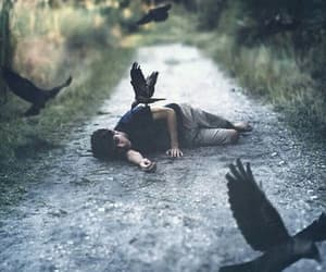 boy, mystic, and crows image