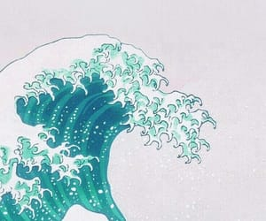 wallpaper, waves, and art image