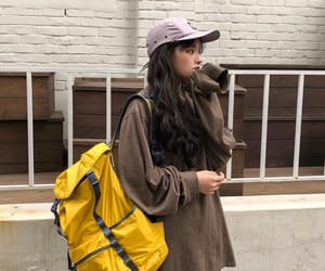 aesthetic, backpack, and girl image