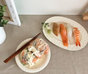 dinner, supper, and sushi image