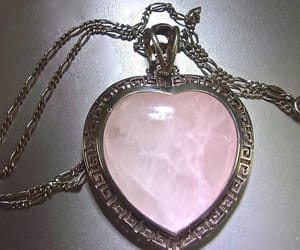 etsy, rose quartz pendant, and sterling silver image