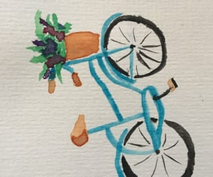 bike, spring, and simplified image