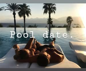 date, hotel, and pool image