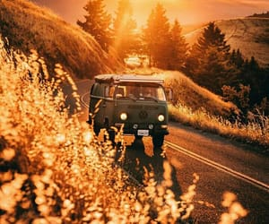 autumn, travel, and car image