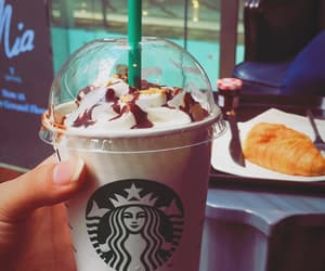 bae, frappuccino, and starbucks lover image