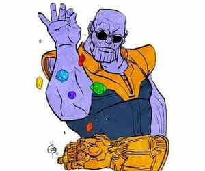 thanos, Marvel, and infinity war image