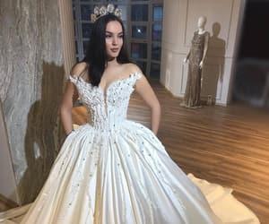 beautiful, girl, and weddingdress image