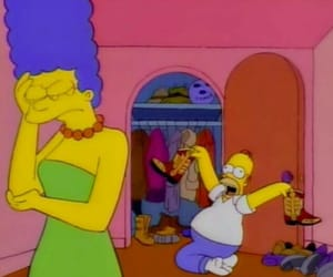 the simpsons, simpsons, and homer image