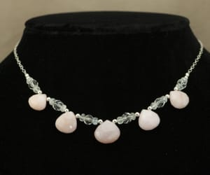 handcrafted jewelry, opal necklace, and gemstone jewelry image