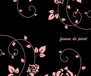 black, wallpaper, and flower image