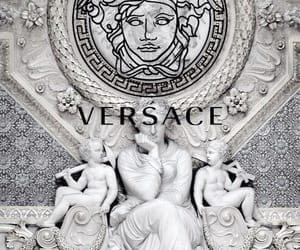 Versace, black and white, and sculpture image