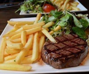 food, yummy, and steak image