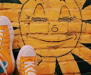 shoes, sun, and yellow image