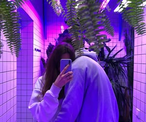 couple, purple, and love image