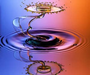 action photography, colorful, and water drops image