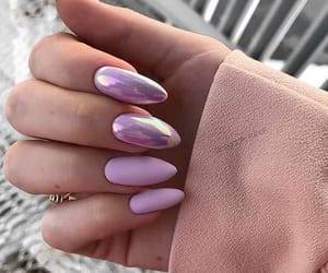 nails, girl, and pink image