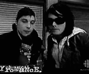 black and white, gerard way, and frank iero image