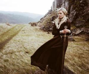 sword, blonde, and medieval image