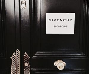 Givenchy, black, and showroom image