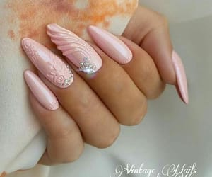 girl, nails, and girly image