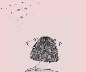 wallpaper, pink, and stars image