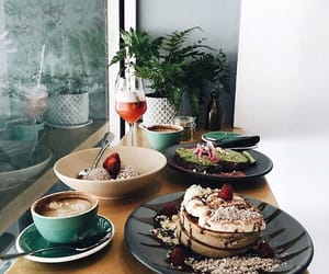 cake, delicious, and coffe image