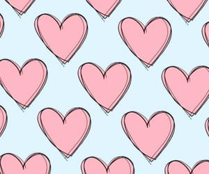 background, hearts, and iphone image